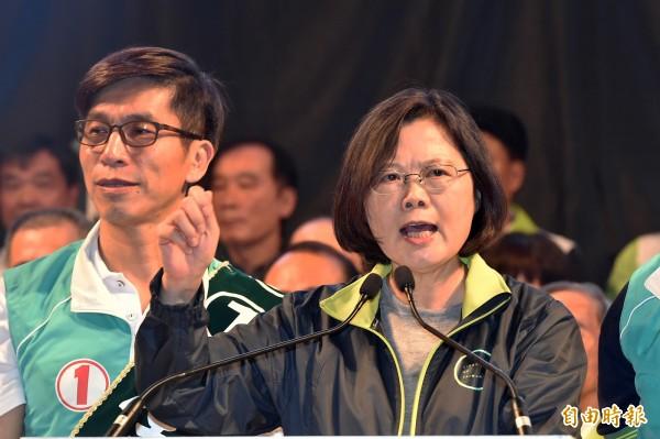 民進黨總統候選人蔡英文。(資料照,記者張忠義攝)