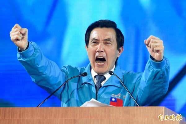 國民黨15日於板橋舉行「台灣就是力量」選前之夜造勢晚會,馬英九總統到場懇託。(記者羅沛德攝)