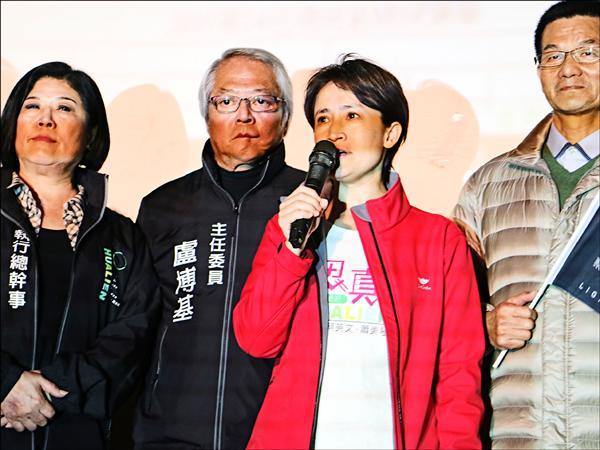 蕭美琴在花蓮苦蹲六年終於勝選。(記者王錦義攝)