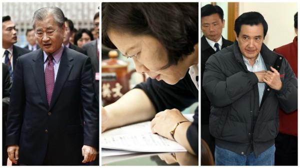 毛治國(左)請辭行政院長後,藍營某首長提出質疑,「民進黨不是準備好了?」(本報合成照)