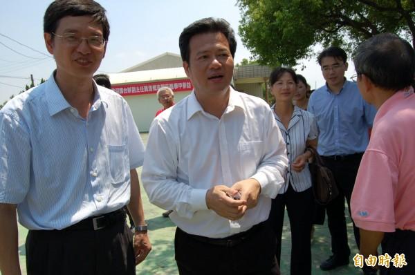 國台辦副主任龔清概(中)涉嫌嚴重違紀,目前正接受組織調查,而他曾在2014年來台參訪。(資料照,記者楊金城攝)