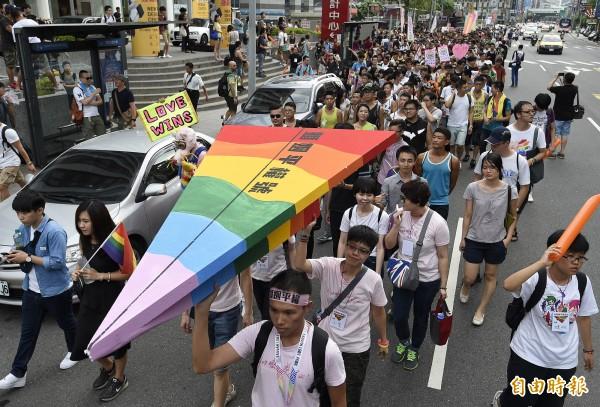 總統、立委選舉落幕,立委大洗牌,婚姻平權法案再露曙光。(資料照,記者陳志曲攝)