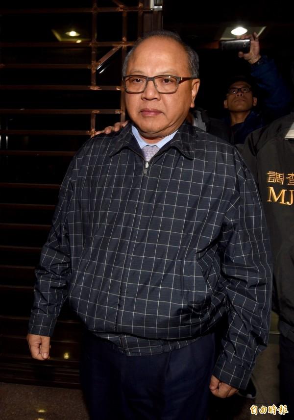 立法院秘書長林錫山今日承認收賄事實。(記者羅沛德攝)