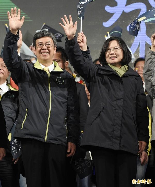 針對大選後是否支持由民進黨主導組閣,29%民眾支持,25%則認為應由總統馬英九來任命,另有46%未表示意見。(資料照,記者陳志曲攝)