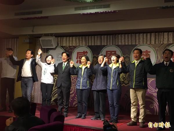 蔡英文今日下午參加在台南舉辦的感恩茶會,感謝選民的支持。(記者林孟婷攝)