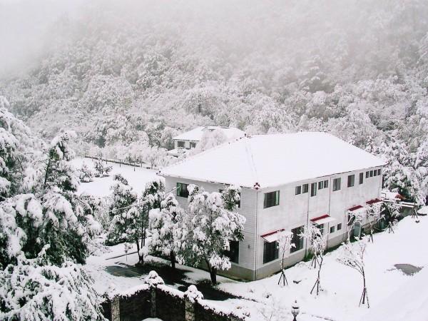 10多年前奧萬大降雪,變成美麗的銀白世界。(南投林管處提供)