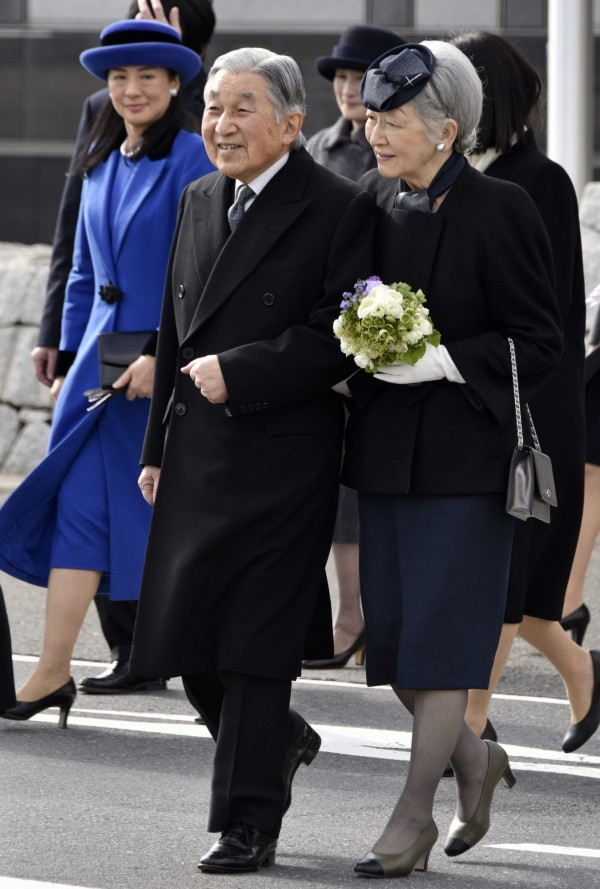 日本明仁天皇與美智子皇后今天前往菲律賓訪問。(歐新社)