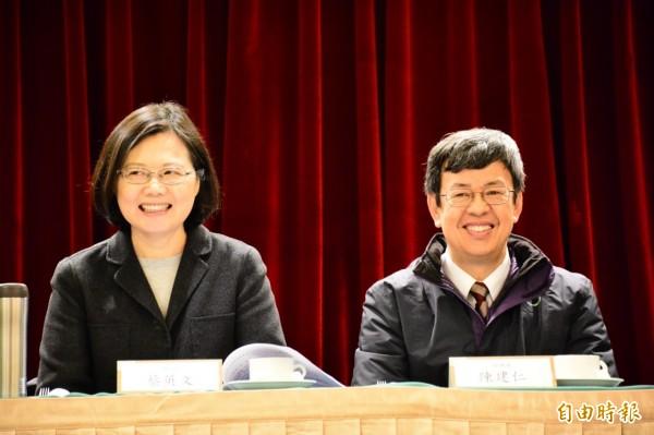 正、副總統當選人蔡英文、陳建仁今日赴花東地區謝票。(記者王錦義攝)