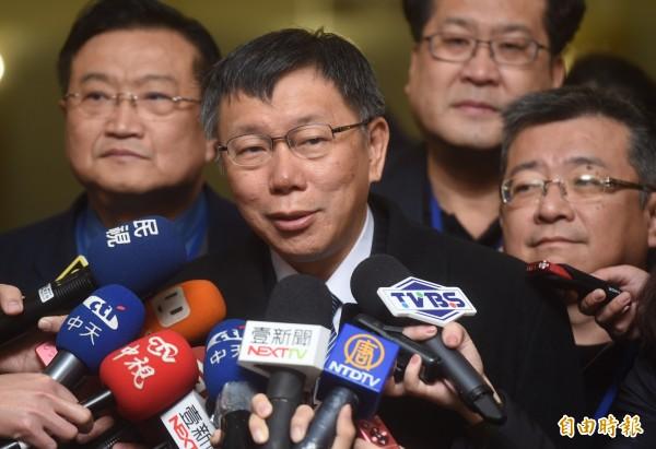 台北市長柯文哲對於寒流假回應,表示新的問題要有新的SOP。(資料照,記者簡榮豐攝)