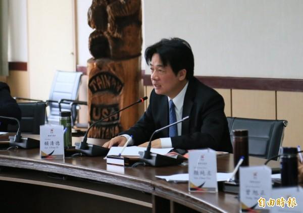 台南市長賴清德宣布,南市將受理同性伴侶申請發給伴侶關係註記證明。(圖由南市新聞處提供)
