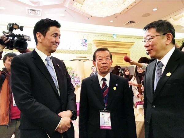 日方提及希望台灣解除日本食品的輸入禁令,柯文哲聽聞後則無奈回應。(駐日特派員張茂森攝)