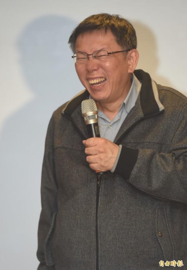 台北市長柯文哲訪日行程中,一句「日本的首相有沒有也是醫師出身的」,引發外界聯想。(資料照,記者簡榮豐攝)