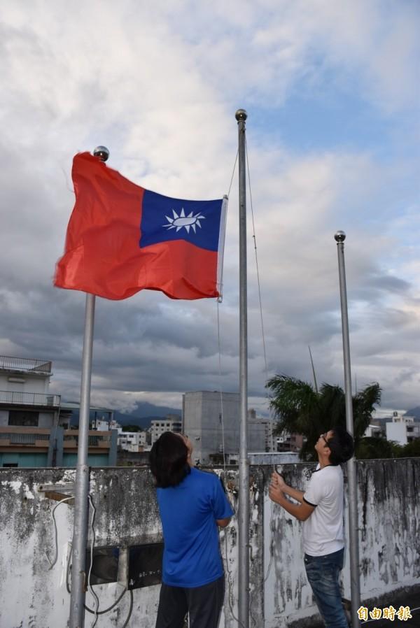 中國網軍說,反對中華民國的領土僅限於台灣,把中國人當外國人,他們也不反對青天白日旗,但是青天白日旗屬於全體中國人。圖與文無關。(資料照,記者黃明堂攝)