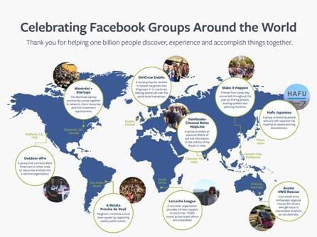 Facebook今天宣布,社團每月活躍用戶超過10億大關。(圖由臉書提供)