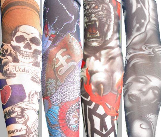 台灣刺青袖套業者遭到澳洲著作權人跨海提告,警方查獲大量盜版貨。(圖擷取自網路)