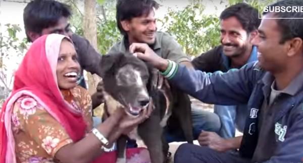 重生後的卡魯不但愛笑也喜歡親近人。(圖擷自YouTube)