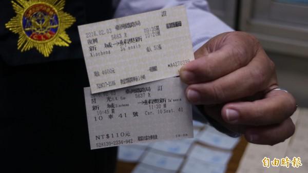 鐵路警察局刑警大隊、花蓮分局等組成專案小組,並與刑事警察局第九大隊第三隊破獲使用虛擬身分證字號上網搶火車票的藝品店。(記者王錦義攝)