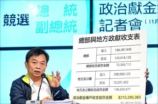 蔡英文競選總部總幹事林錫耀(資料照,記者劉信德攝)