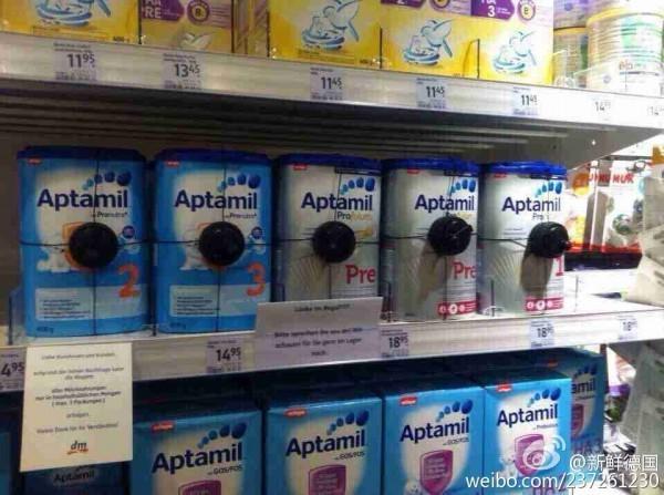 傳出中國大媽們又到德國掃蕩奶粉。(資料照,圖擷自微博)
