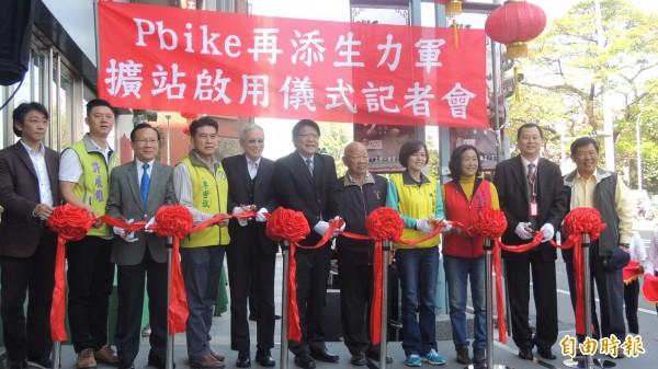 屏東公共自行車Pbike,春節前增設2站,今啟用。(記者羅欣貞攝)