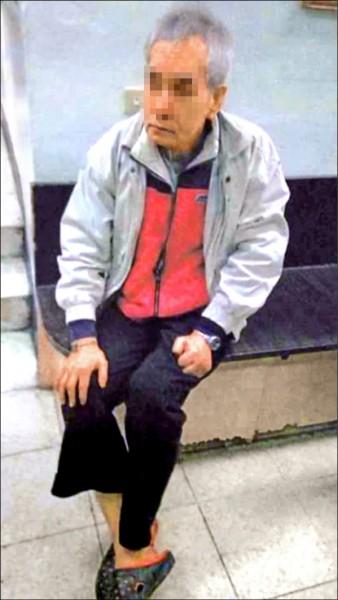 知名台語演員侯傑沒穿褲子,流落台北市東區街頭,警方花了兩個多小時,才查出他罹患失智症住養護中心,資深演員晚景淒涼,令人欷歔。(記者邱俊福翻攝)