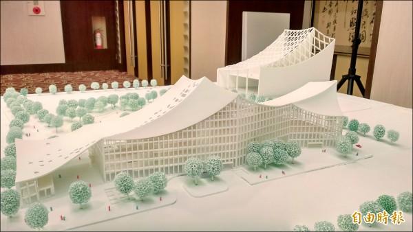 競圖第二名九典聯合建築師事務所的作品。 (記者劉婉君攝)