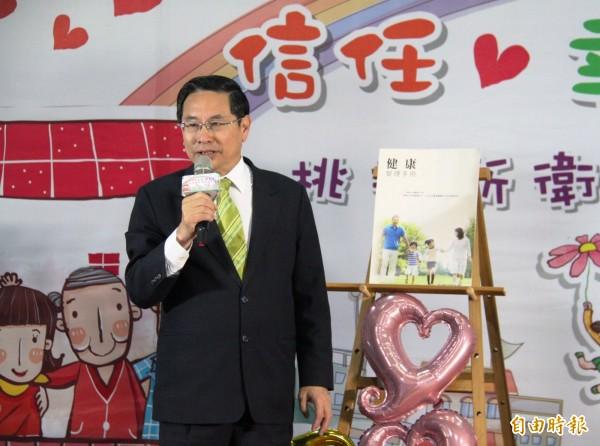 嘉義市長涂醒哲在父喪期間,仍派員趕往台南市永康區加入救災。 (資料照,記者王善嬿攝)