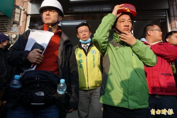 日本救災調查團抵台,賴清德親自說明現場狀況。(記者蕭婷方攝)