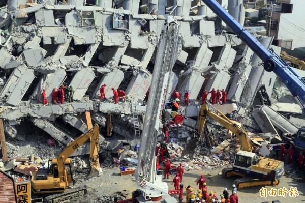 日前高雄美濃發生芮氏規模6.4強震,造成南台灣嚴重傷亡。(資料照,記者張忠義攝)