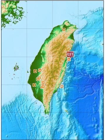 地震測報中心指出,美濃地震的餘震多在台南,81次餘震中有17次是有感地震,可能是當地為地層破裂「結束點」,能量沒釋放完、地層不平衡而有餘震。(圖擷取自中央氣象局網站)