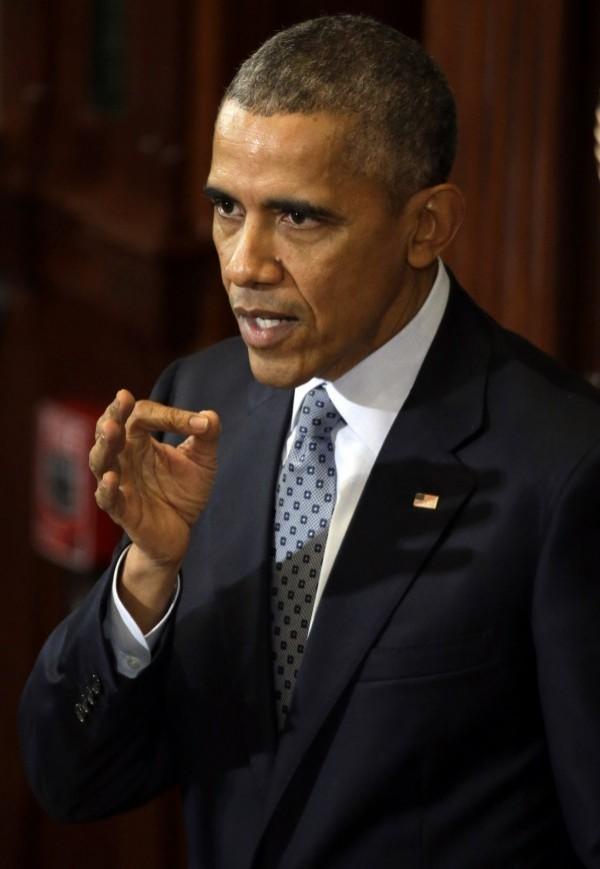 美國總統歐巴馬於「美國與東南亞國家協會峰會」中就南海問題呼籲各當事方,尊重及遵守即將依據「聯合國海洋法公約」做出的裁決。(美聯社)