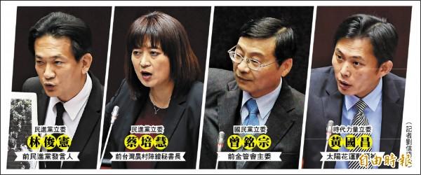 第九屆立法院昨天進行施政總質詢,新科立委表現受到矚目。(記者劉信德攝)