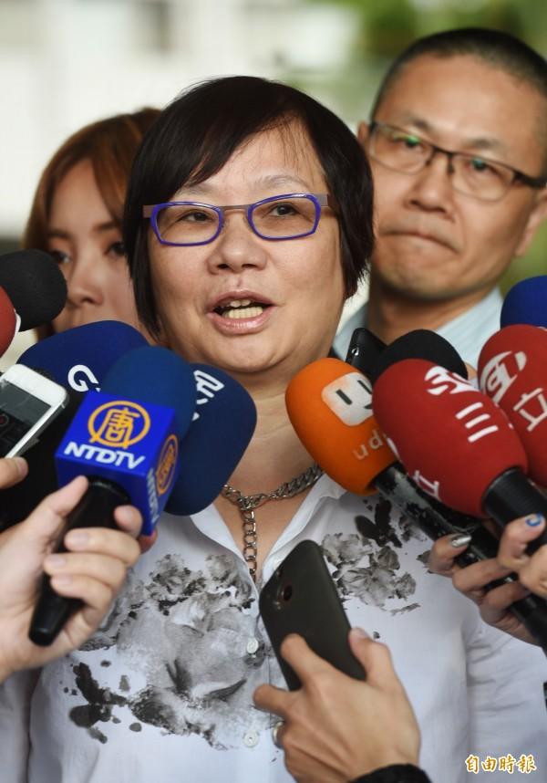 前藍委羅淑蕾表示,讓新科立委修理修理政府官員也好。(記者羅沛德攝)