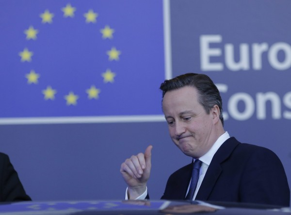 英國一份民調顯示,有48%的英國民眾仍希望英國續留歐盟,但也有33%支持英國脫離歐盟,並有19%的人還沒決定要投哪一邊。圖為英國首相卡麥隆。(歐新社)