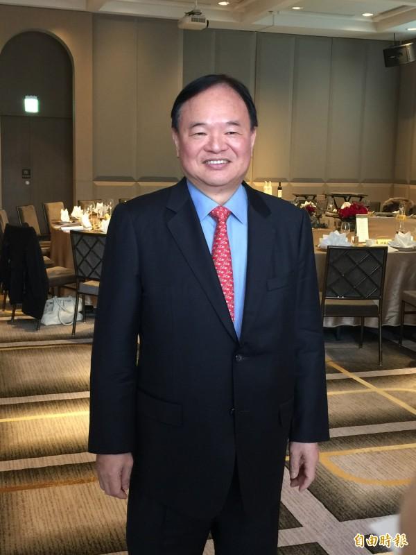 全聯董事長林敏雄表示,台灣讓有錢人跑掉,經濟會垮。(記者楊雅民攝)