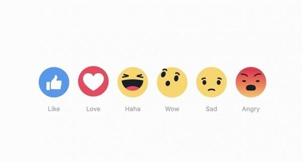 除了原有的「讚」,臉書推出了5種新的表情符號。(圖擷取自newsroom.fb)