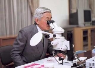 天皇醉心於鰕虎魚研究。(圖片擷取自日本外務省)