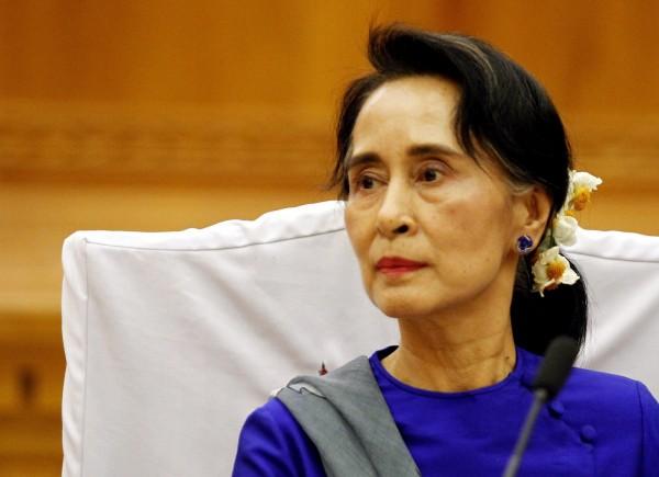 緬甸國會議長突襲宣布提前總統大選,可能造成翁山蘇姬無緣角逐總統大位。翁山蘇姬資料照。(歐新社)