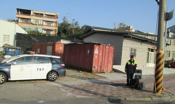 清水分局三月起加強台灣大道沿線移動式測速照相。(記者歐素美翻攝)