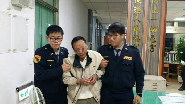 楊姓男子遭警移送法辦。(記者徐聖倫翻攝)