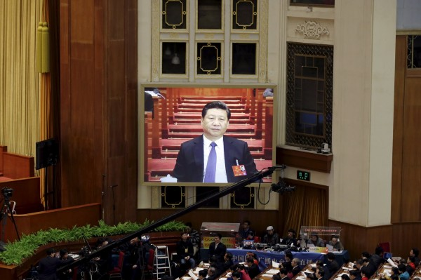 習近平在中國兩會發表最新對台講話。(路透)