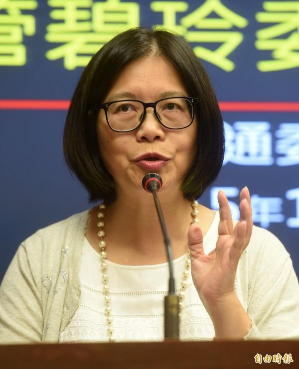 管碧玲持續在臉書關注憲兵違法搜索事件。(資料照,記者簡榮豐攝)