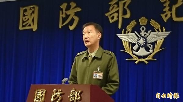憲兵隊被指控偵訊魏男到半夜,馮毅對此解釋純屬誤會。(記者羅添斌攝)
