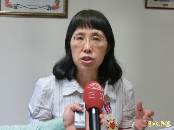 監委高鳳仙(記者李欣芳攝)