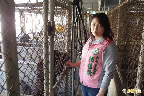 賴佳微怕市府改建動物之家后里園區跳票,要求動用第2預備金。(記者蘇金鳳攝)