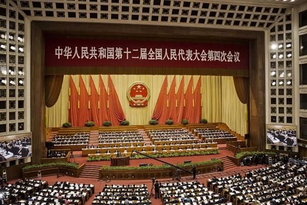 不管北京對兩岸的說法如何改變,其核心意涵仍為「同屬一中」。(彭博)