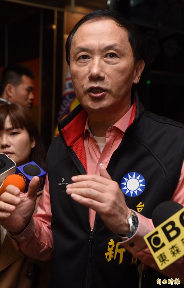 國民黨台北市議員李新呼籲國民黨主席參選人黃敏惠退選,並強調他不能接受「一言堂式的和諧」。(資料照,記者簡榮豐攝)