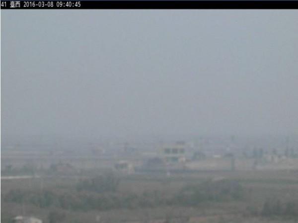 雲林台西測站空氣品質差,目前已達紫爆等級。(圖擷取自空氣品質監測網)