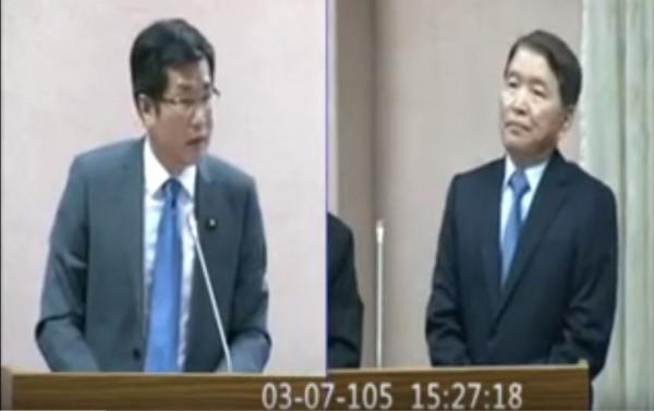 網友對羅致政7日質詢國防部官員的表現評價超高。(圖擷取自YouTube)