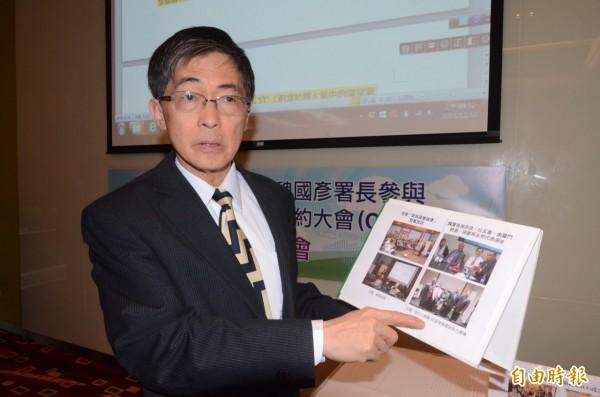 環保署長魏國彥說明,空氣品質監測的高度不同,結果也不同。(資料照,記者謝武雄攝)